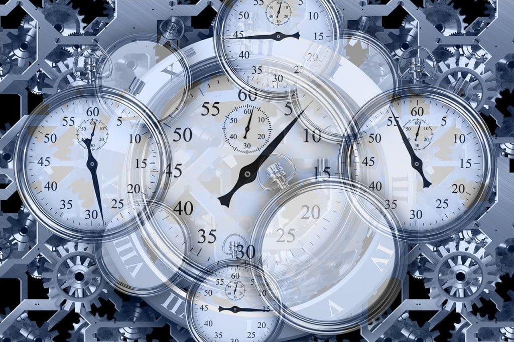 stopwatch, gears, work