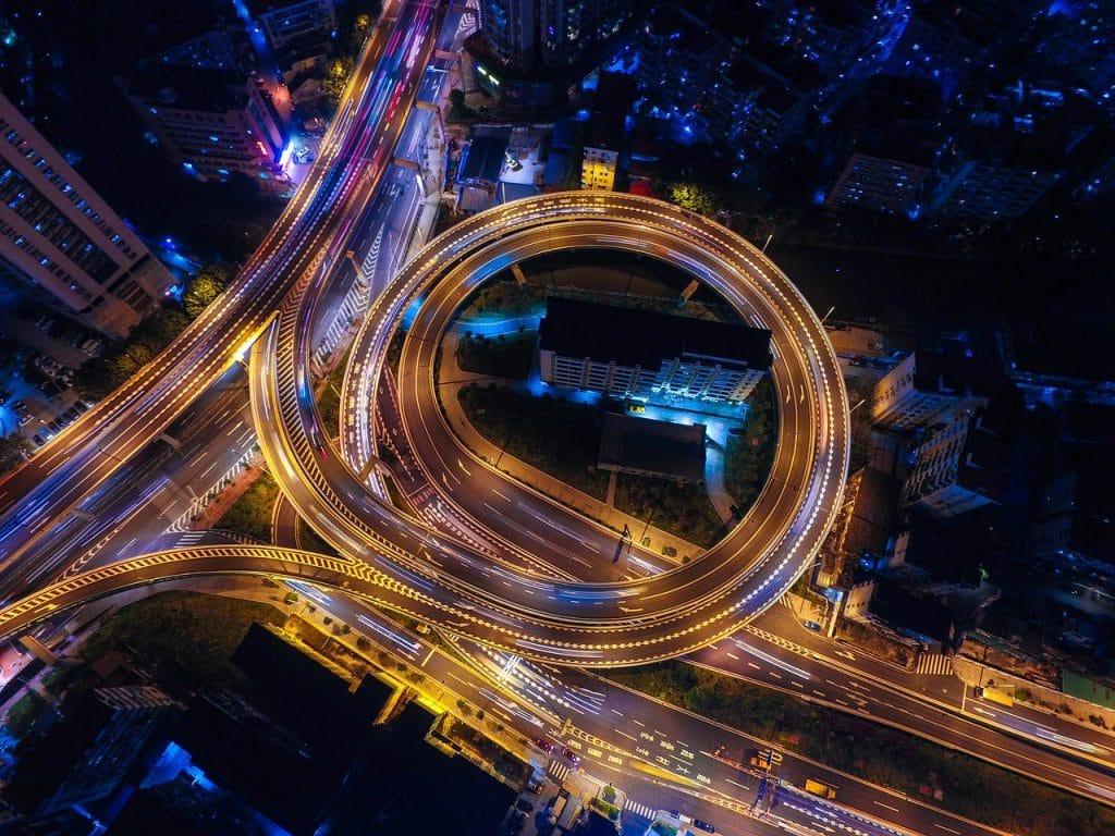 streets, night, lights
